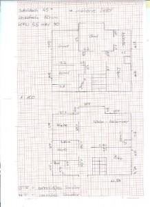 Erste Skizze zur Raumaufteilung