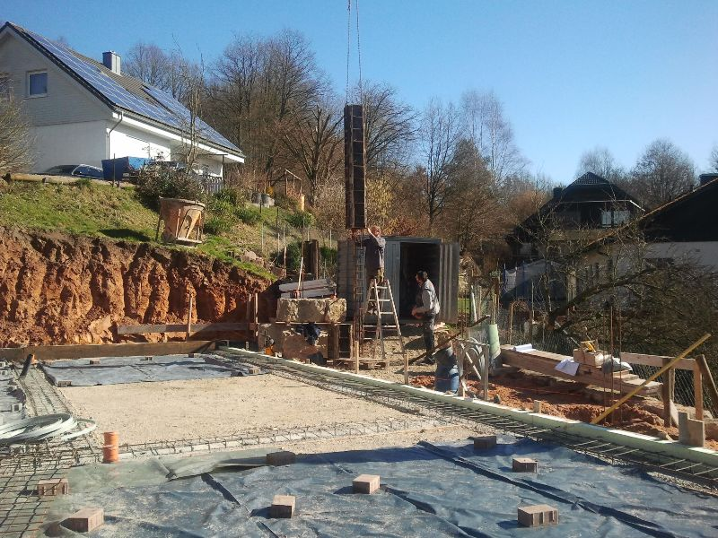 Vorbereitung Bodenplatte Baublog Koppe
