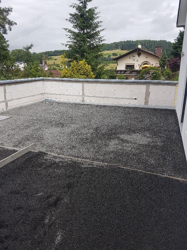 Die Terrasse Hat Einen Belag Baublog Koppe - Splittbett für terrasse