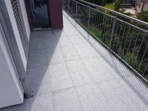 Balkonfläche Richtung Küche